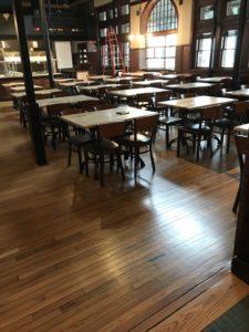 Restaurant in downtown Framingham with white oak hardwood floors and polyurethane finish (2)