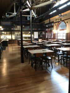 Restaurant in downtown Framingham with white oak hardwood floors and polyurethane finish