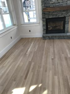 White oak flooring- 1. before finish