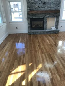 White oak flooring -2. after finish