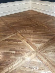 White oak hardwood floors with nutmeg stain