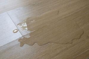water damage on hardwood floors