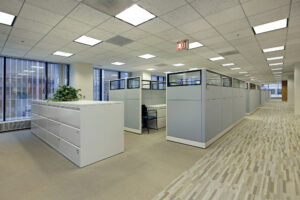 hardwood flooring in an office