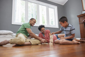 hardwood flooring and children